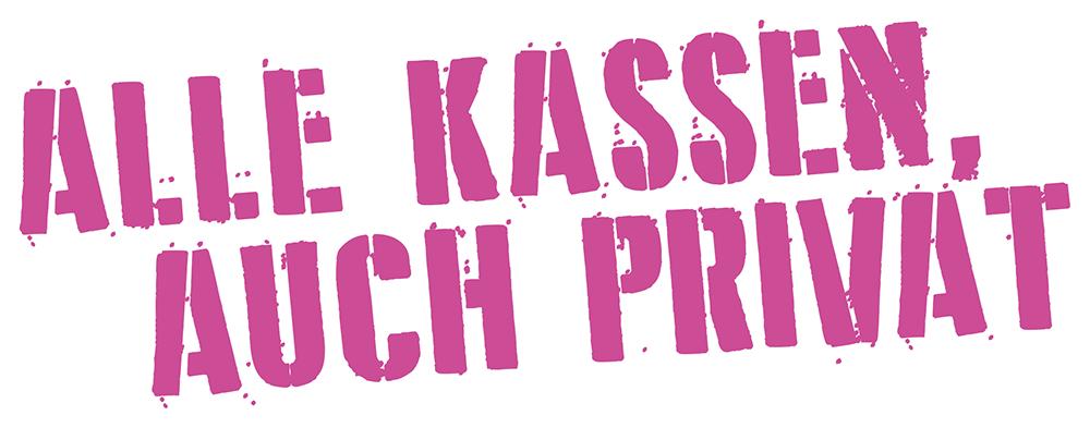 ALLE KASSEN, AUCH PRIVAT Logo